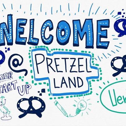 VerVieVas: Graphic Recording auf der Bits & Pretzels 2016 in München - Welcome!