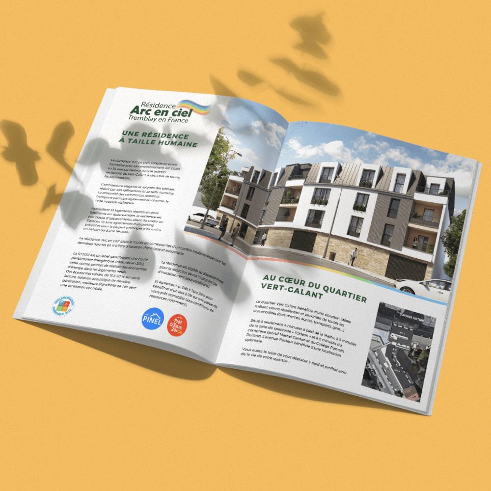 Plaquette commerciale pour un programme immobilier par Sylleb