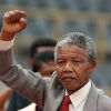 Nelson Mandela Gives Speech After Release From Prison on Feb. 11, 1990