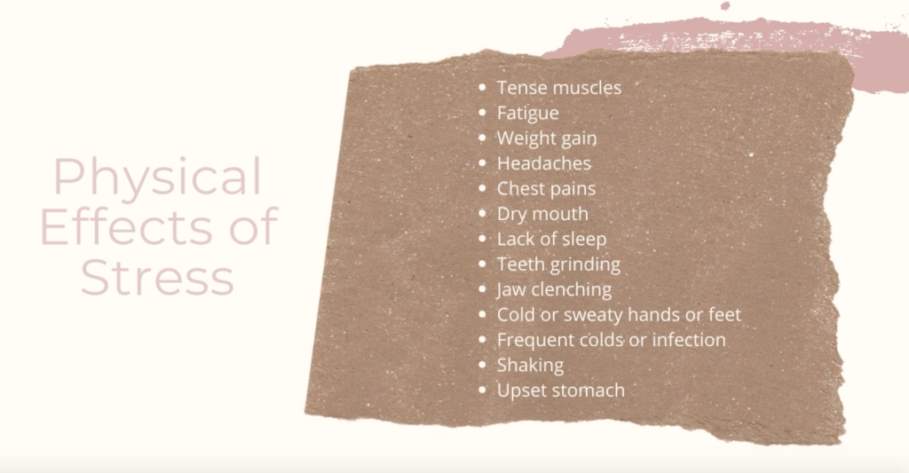 Physical affects of stress on the human body