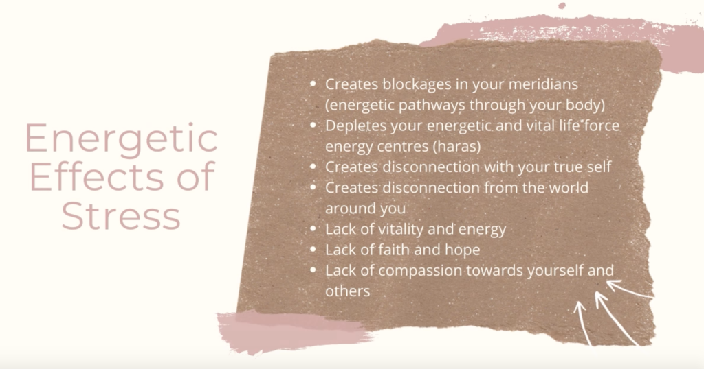 Energetic Effects of Stress