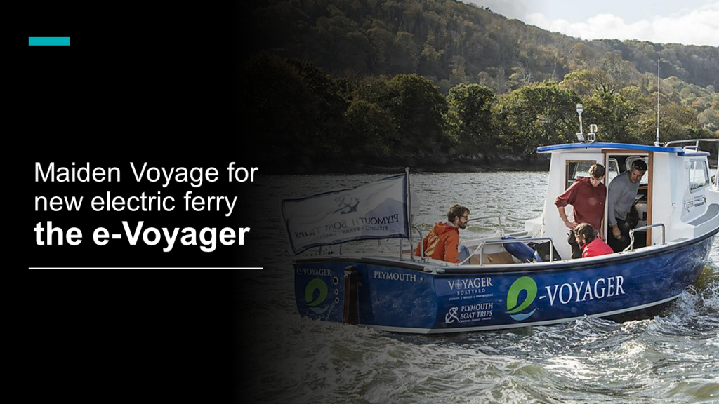 Maiden Voyage for new electric ferry e-Voyager
