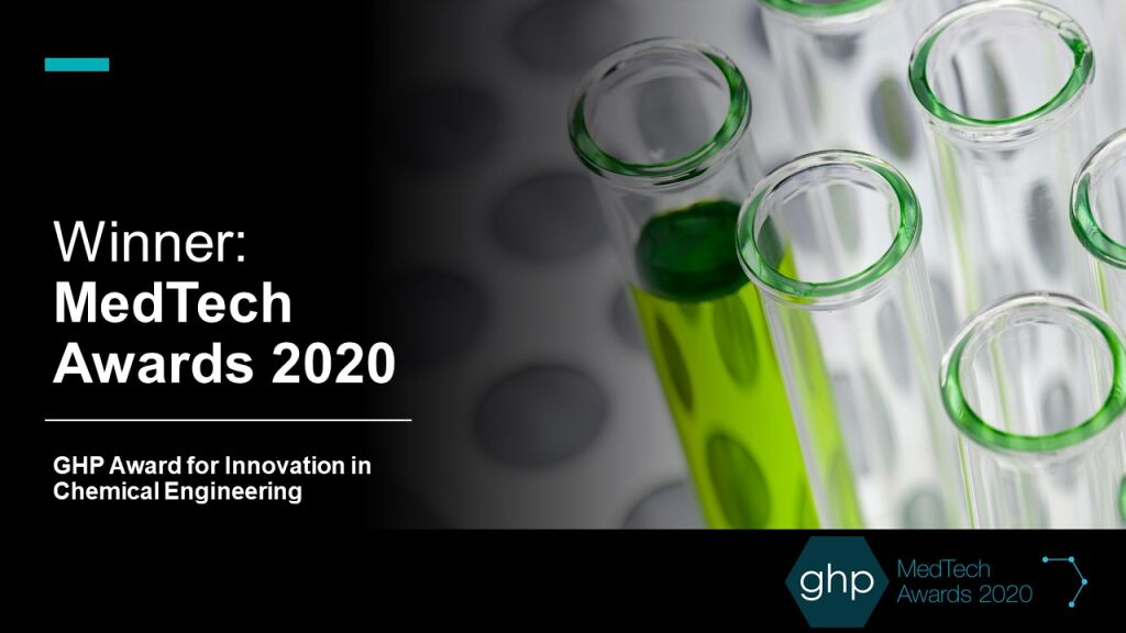 Innovolo Win MedTech Awards 2020 GHP Award for Innovation in Chemical Engineering