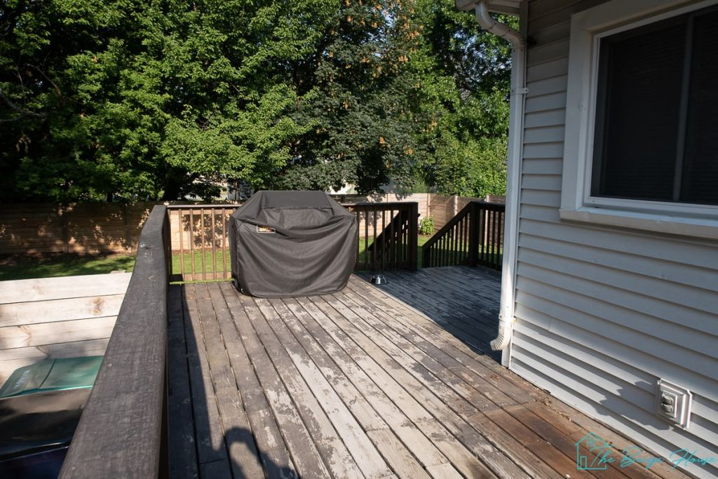 before Painting Our Deck