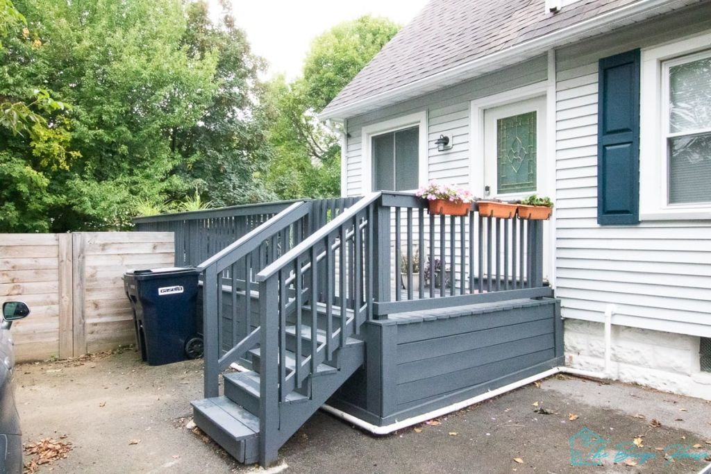 Painting Our Deck in westcott gray