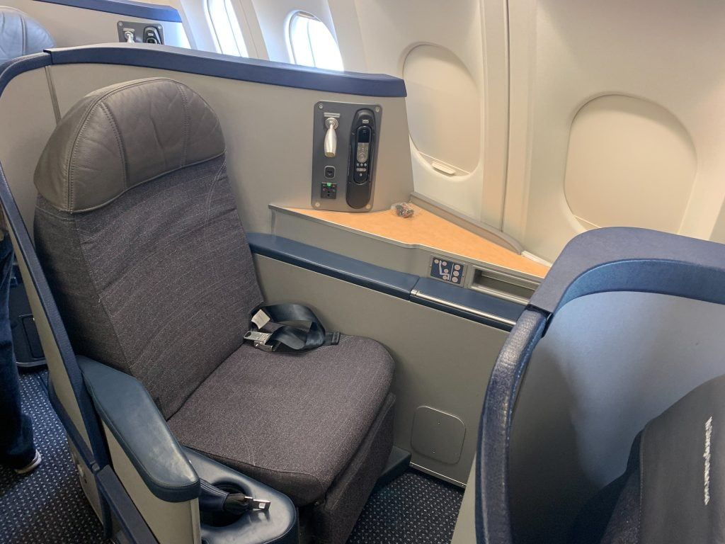 Palm Springs diary, 1st class cabin on American's AA330 plane.