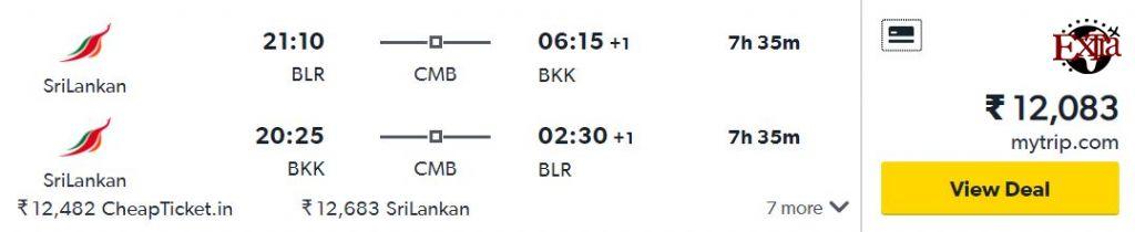 Bengaluru to Bangkok