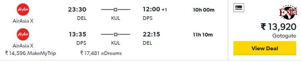 Delhi to Bali