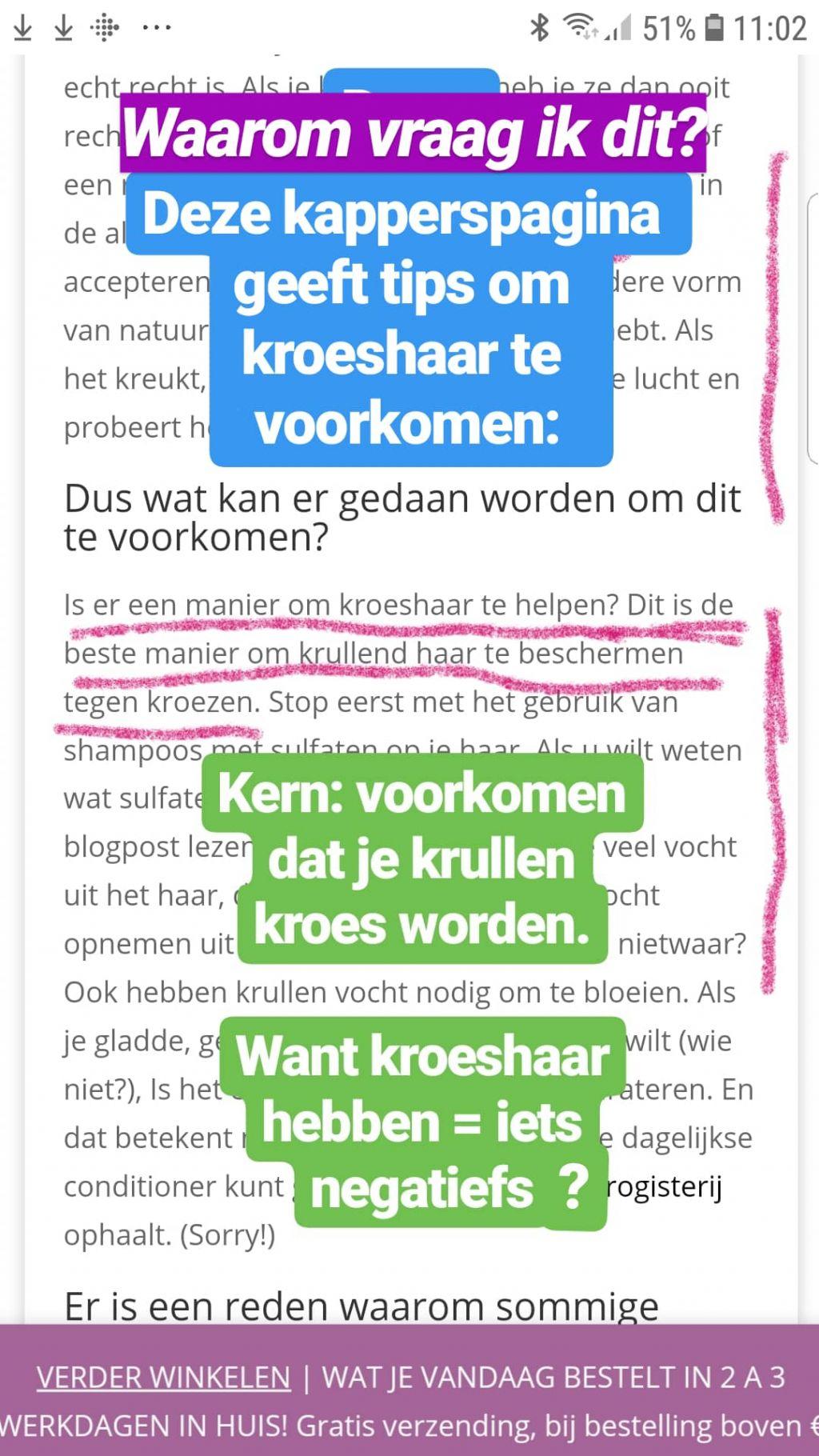 verzorging van Kroeshaar