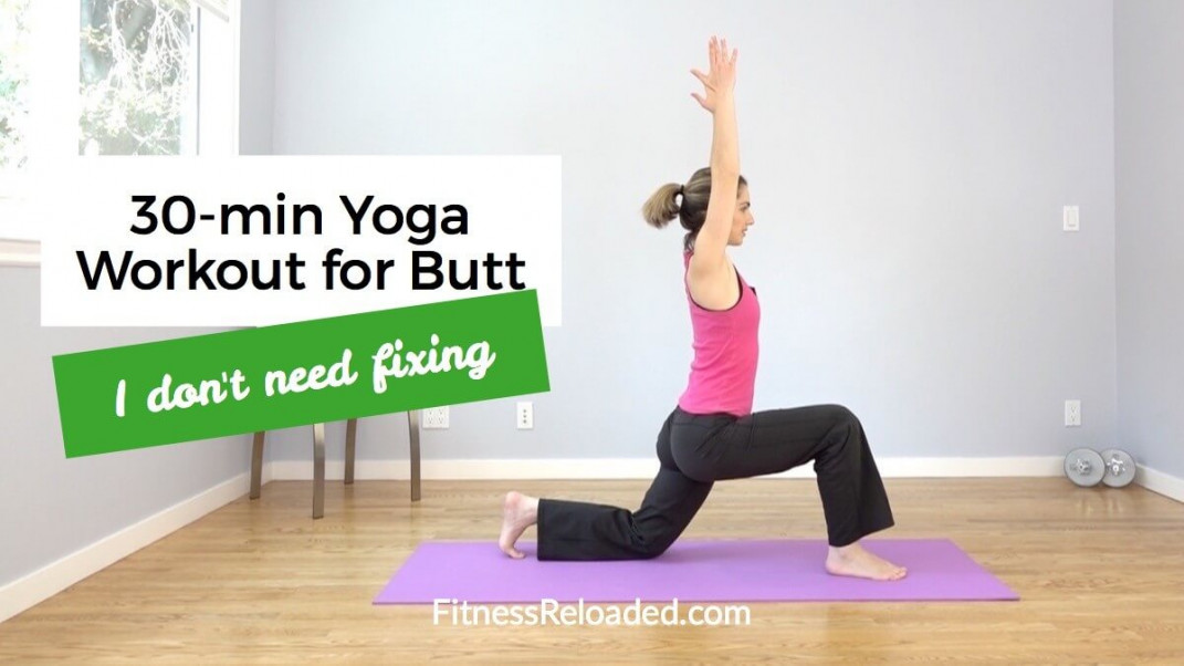 Don't do this 30-min yoga butt blaster workout because you need 'fixing.'