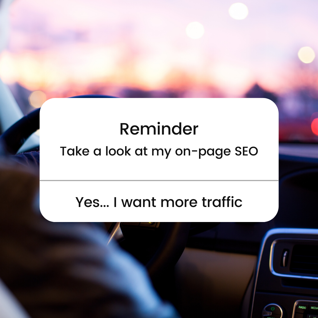 Driving on page SEO