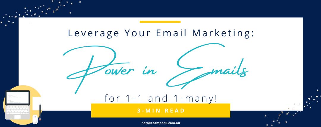 power in emails blog banner september 2020 | Natalie Campbell