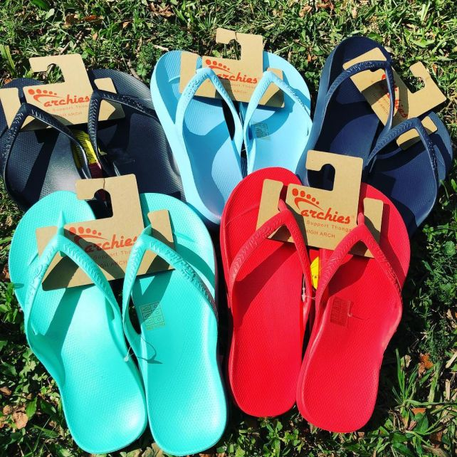 Archies thongs come in a range of colours