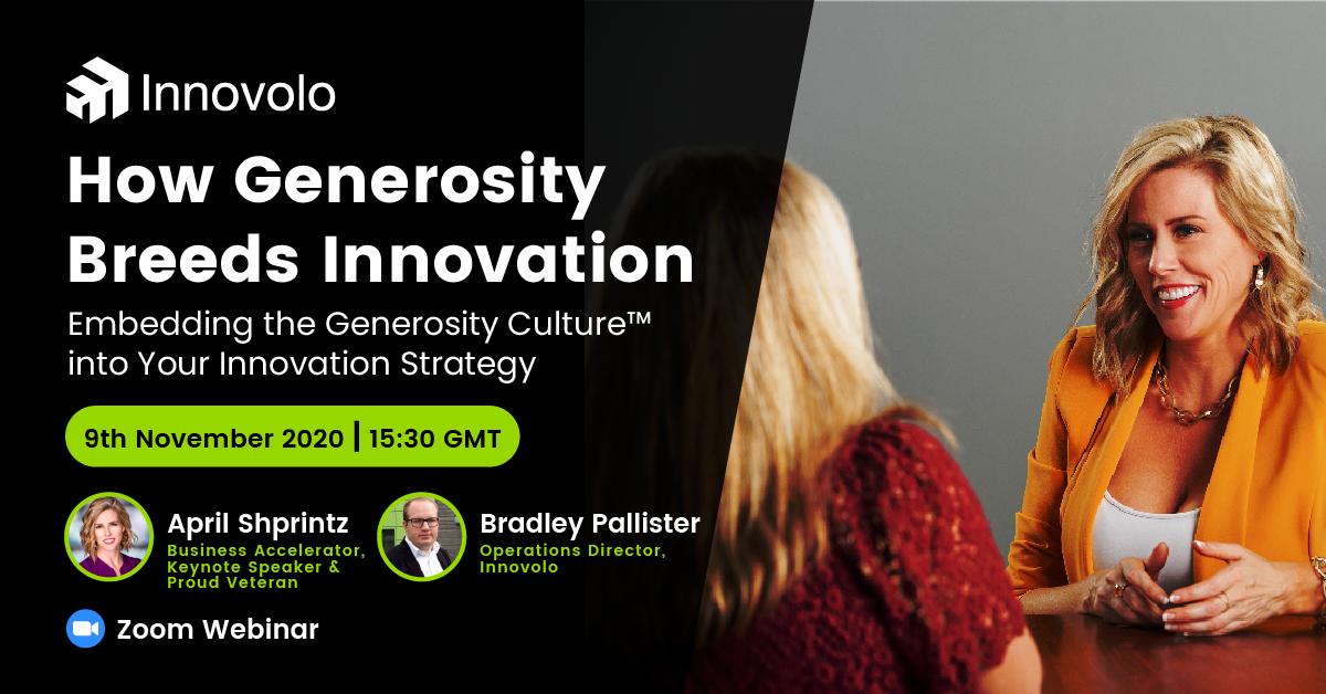 How Generosity Breeds Innovation Webinar with April Shprintz (Innovolo Product Development and Design)