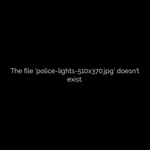 police car lights right