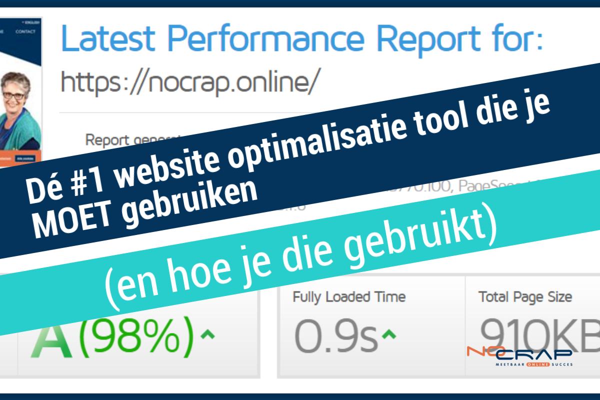 No Crap Online optimalisatie tool gtmetrix