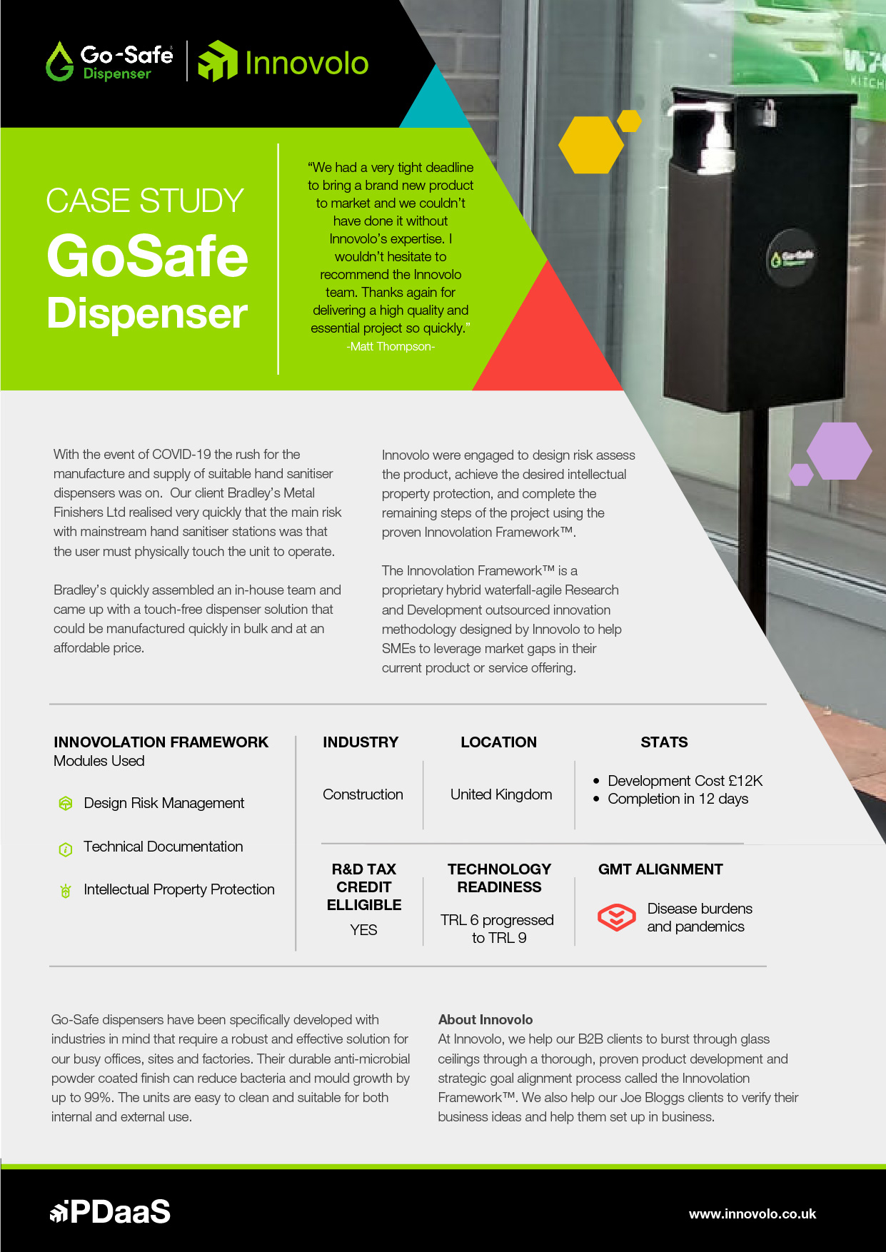 Case Study go safe dispenser