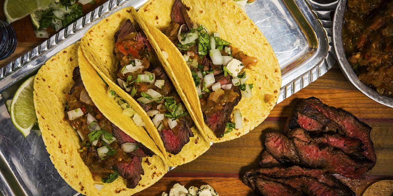 Carne Asada Kangaroo Tacos