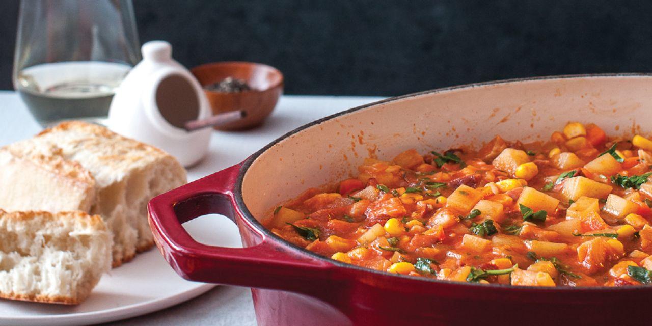 Smoked Whitefish Stew with Chorizo