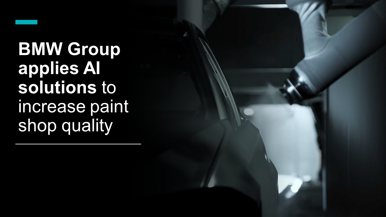 BMW Group applies AI solutions to increase paint shop quality