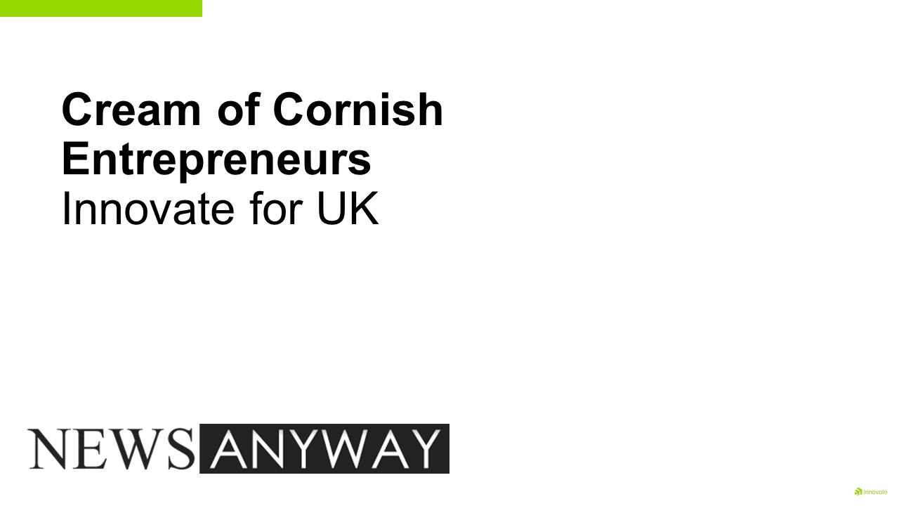 cream of cornish entrepreneurs j - Innovolo Product Development and Design - Innovation-as-a-Service