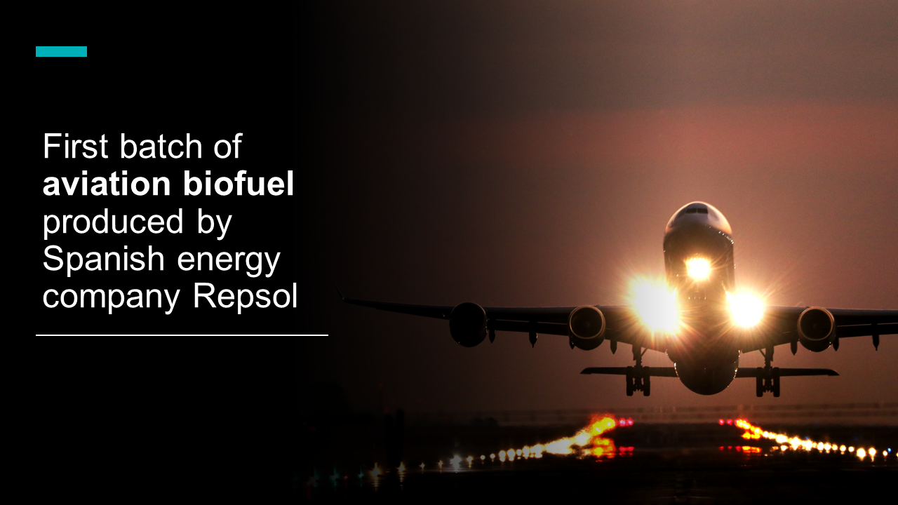 First batch of aviation biofuel produced by Spanish energy company Repsol