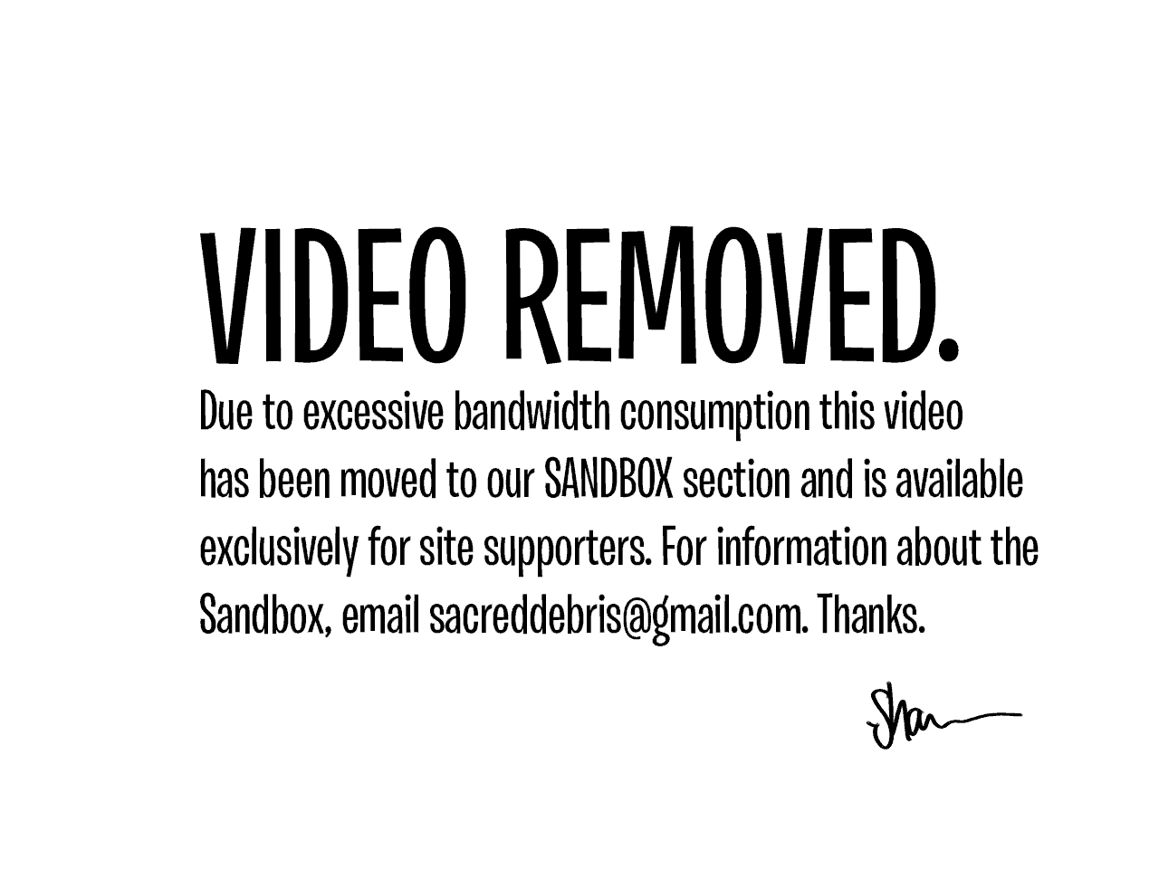 videoremoved
