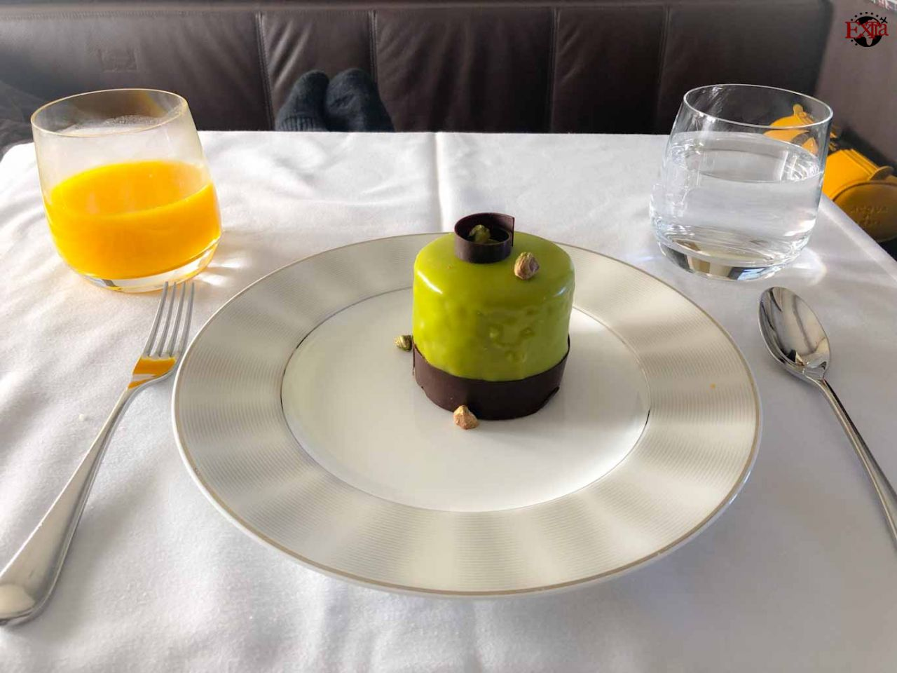 Etihad Airways First Class Dessert