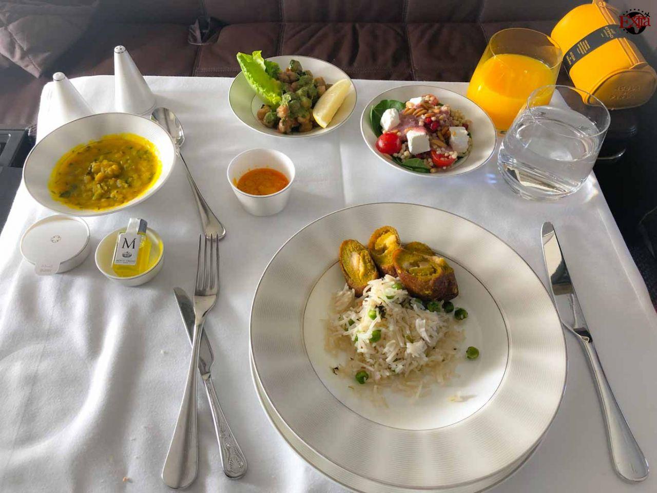 Etihad Airways First Class Main Food