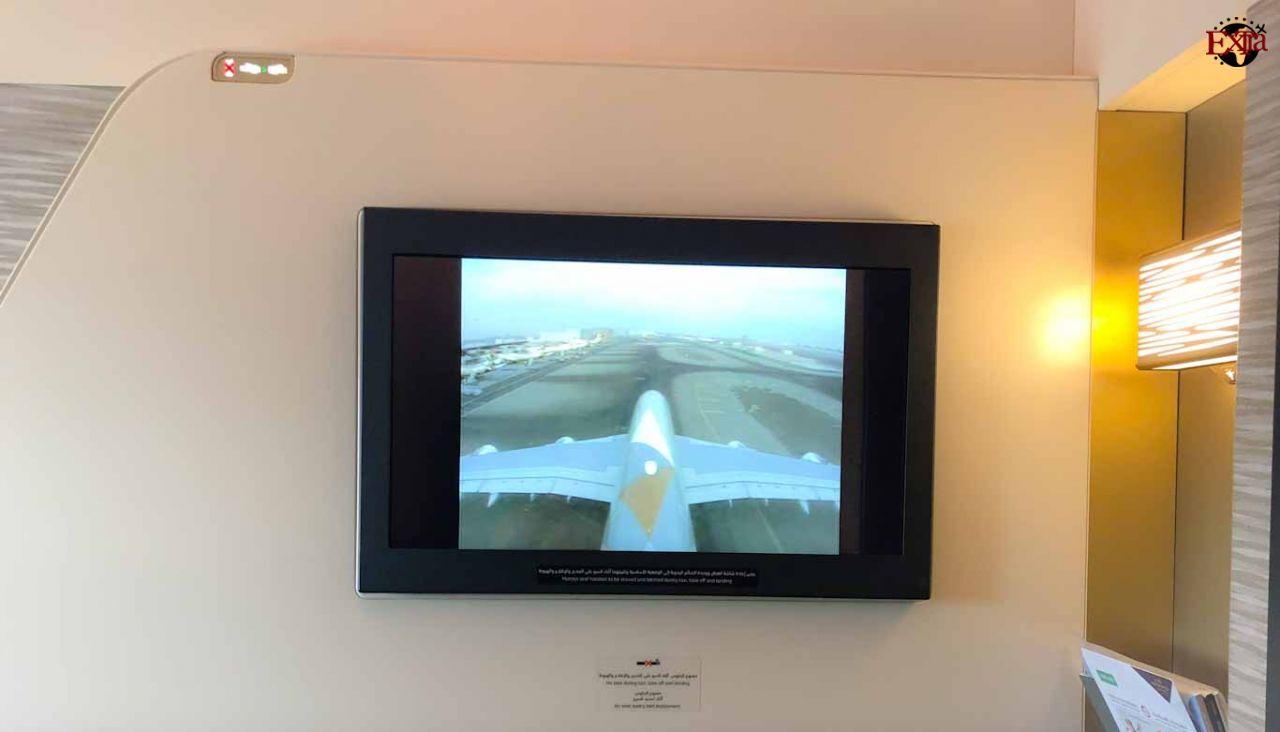 Etihad Airways First Class TV