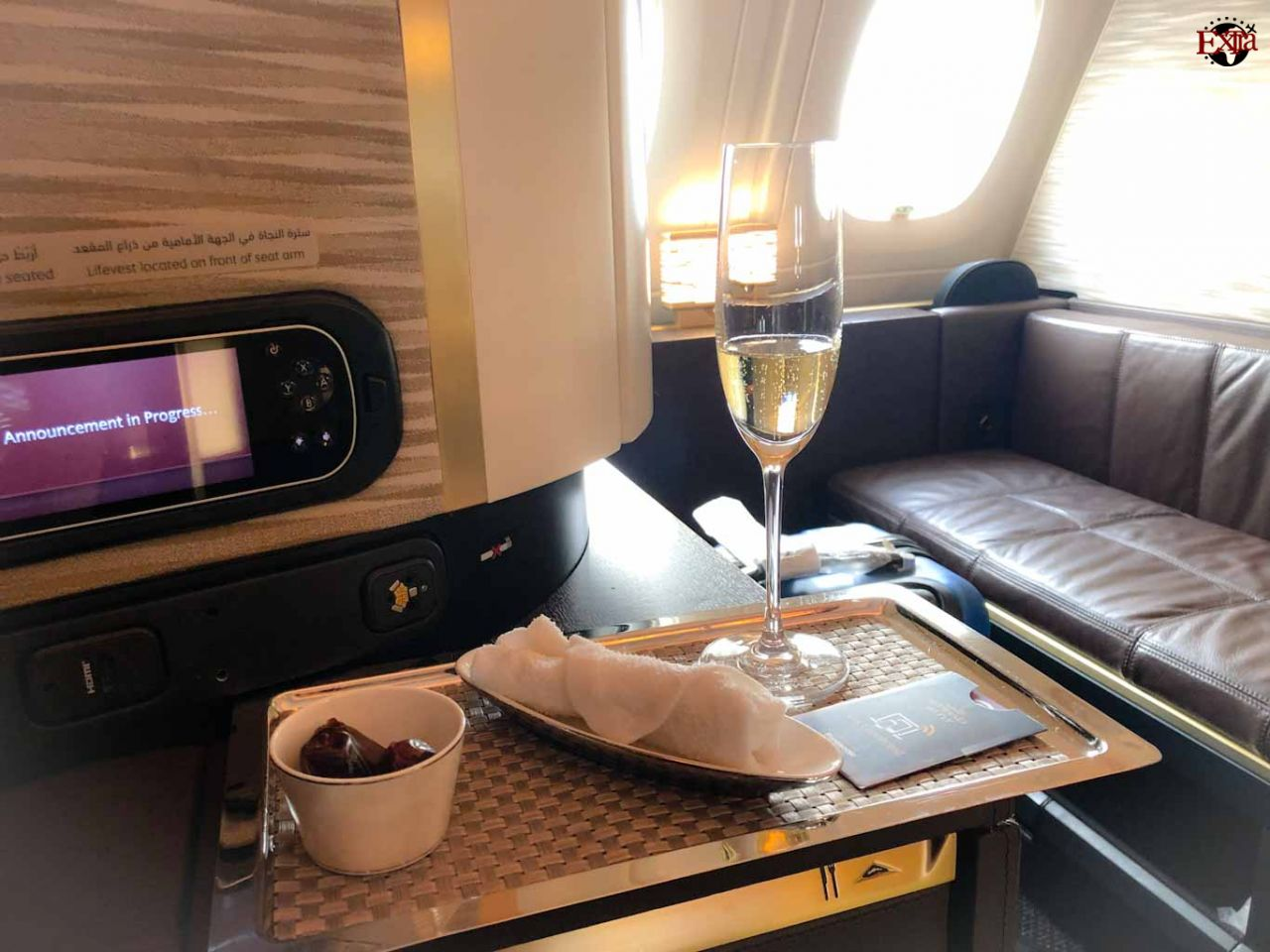 Etihad Airways First Class Welcome Champagne
