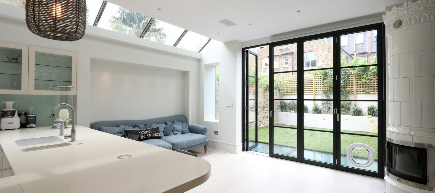 steel look aluminium bifold doors