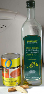 ingredients for greek lentils