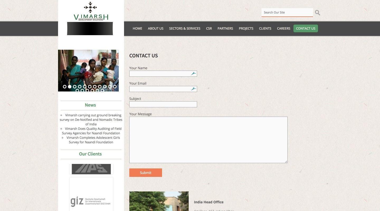 Vimarsh contact us - WebGlobals