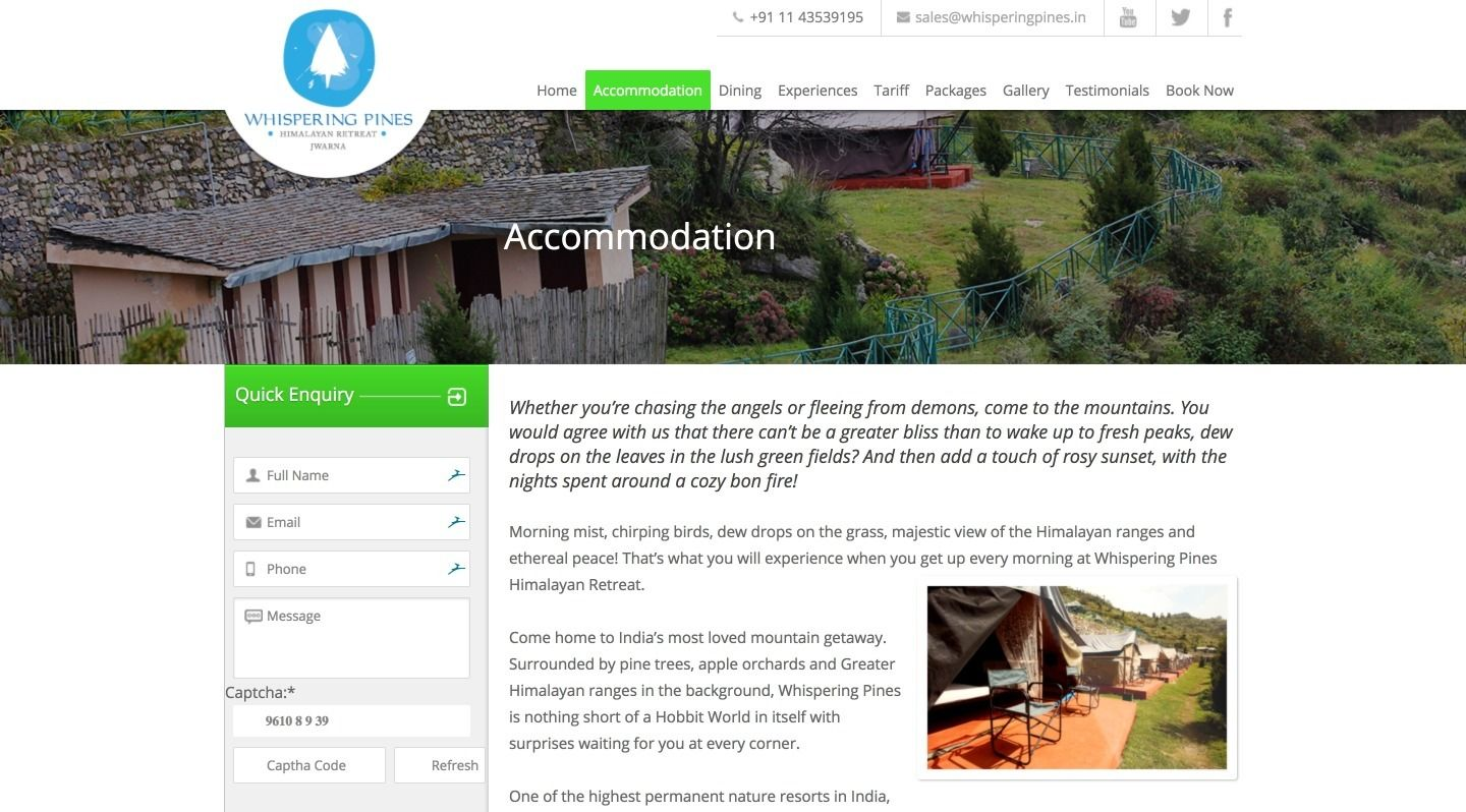 whispering pines accommodation- webglobals