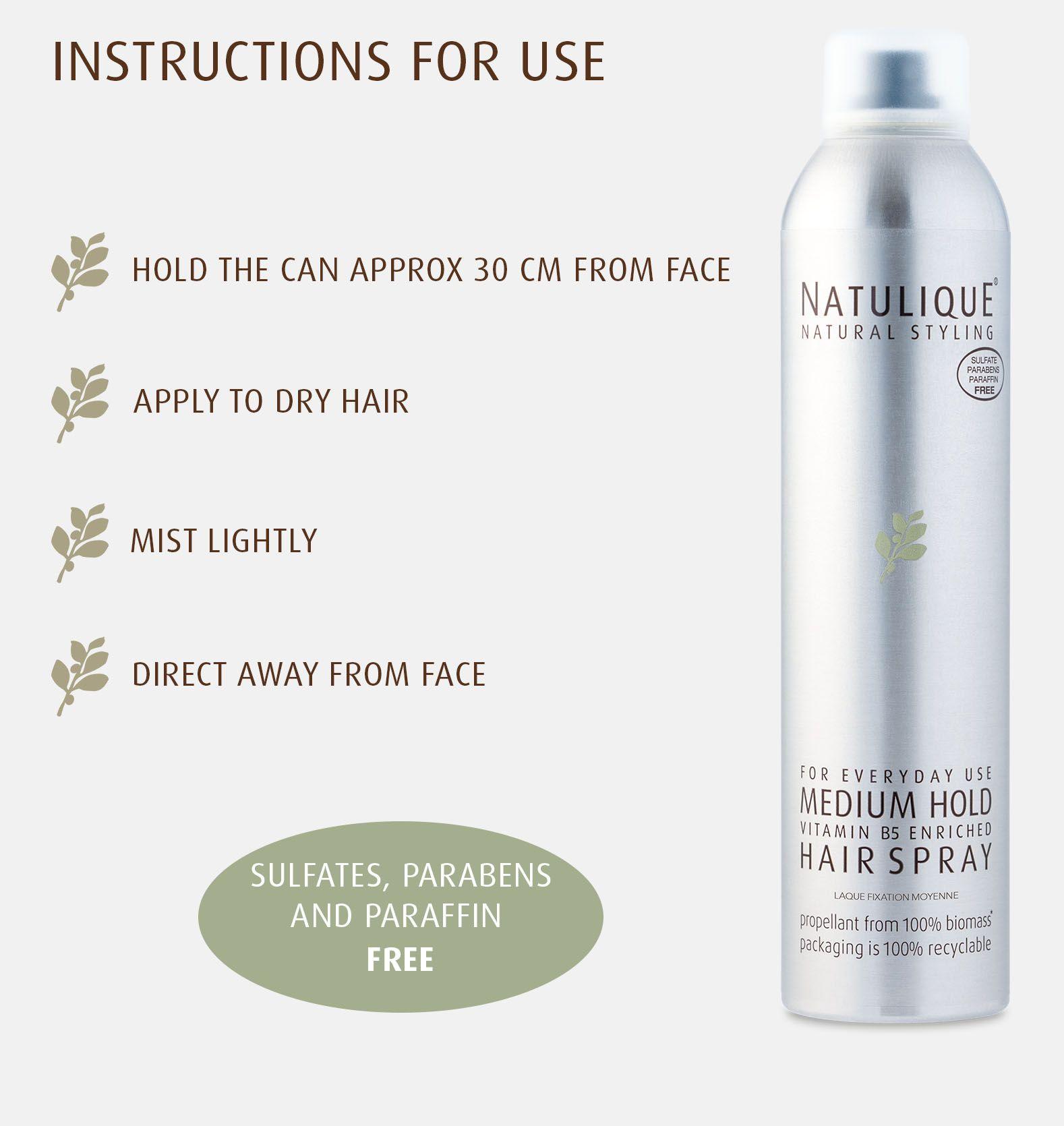 Natulique Medium hold hair spray