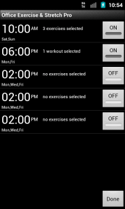 Setting reminders to get up from the chair and do something...
