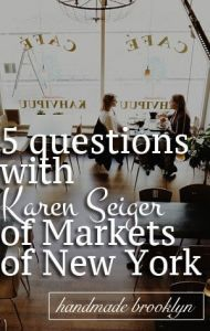 Karen Seiger, author of Markets of New York
