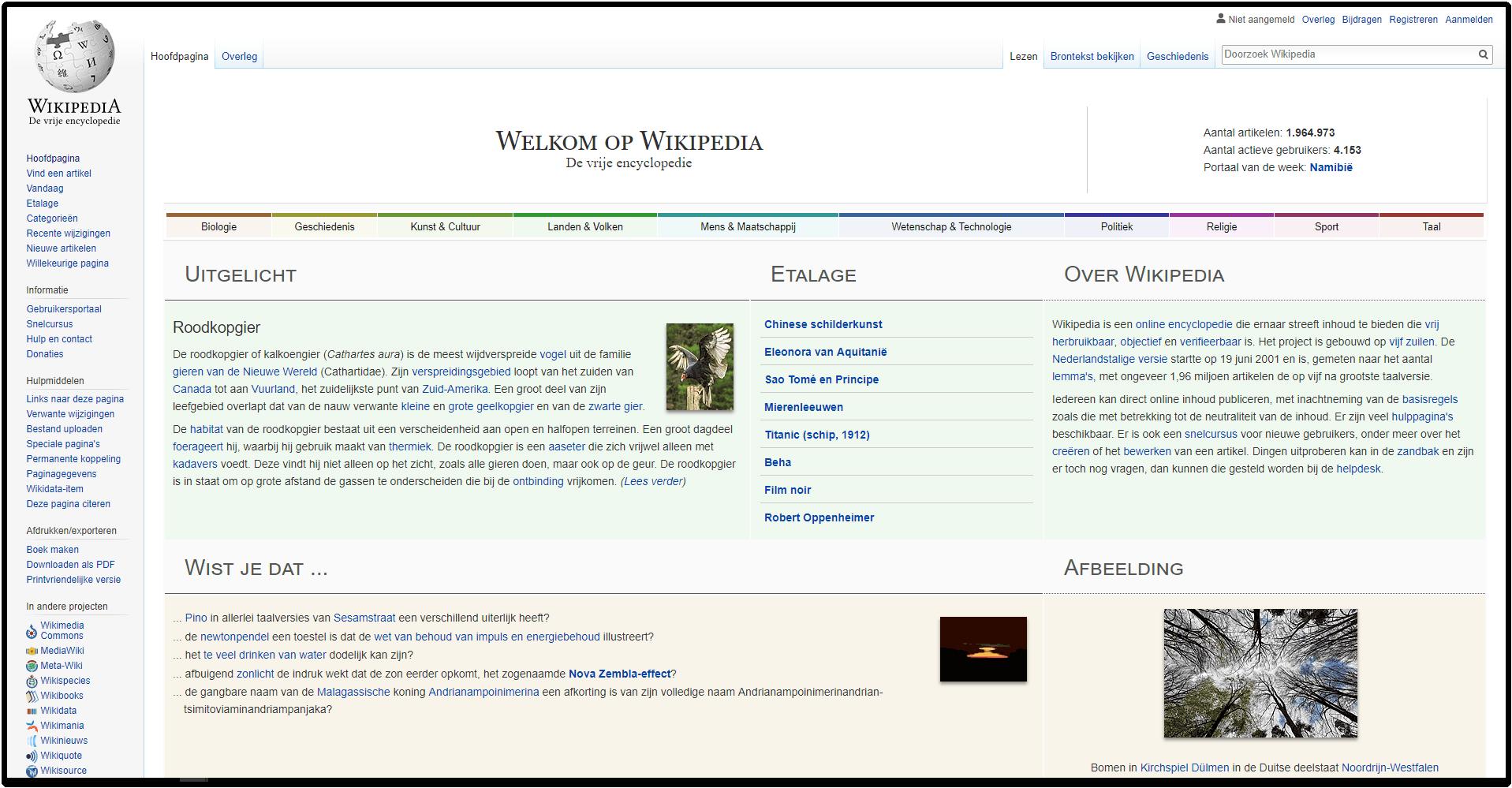 Wikipedia - design arm - rijke content