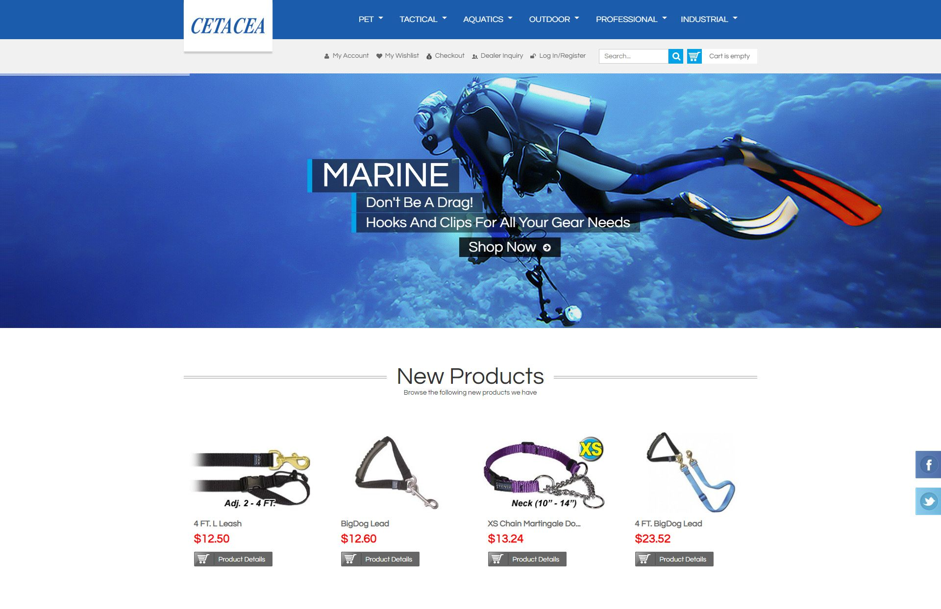Cetacea E-commerce Website design by WebGlobals