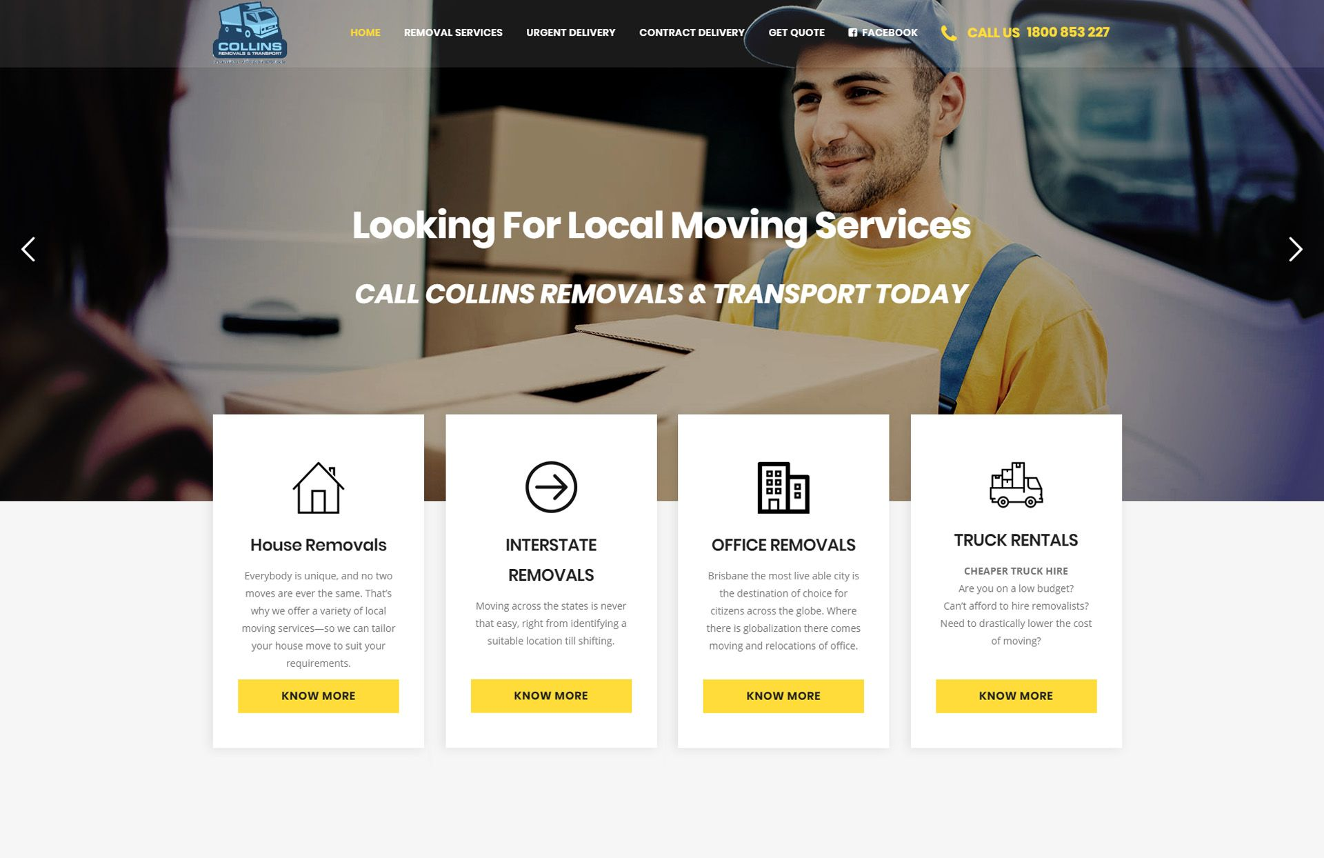 collins removals by WebGlobals