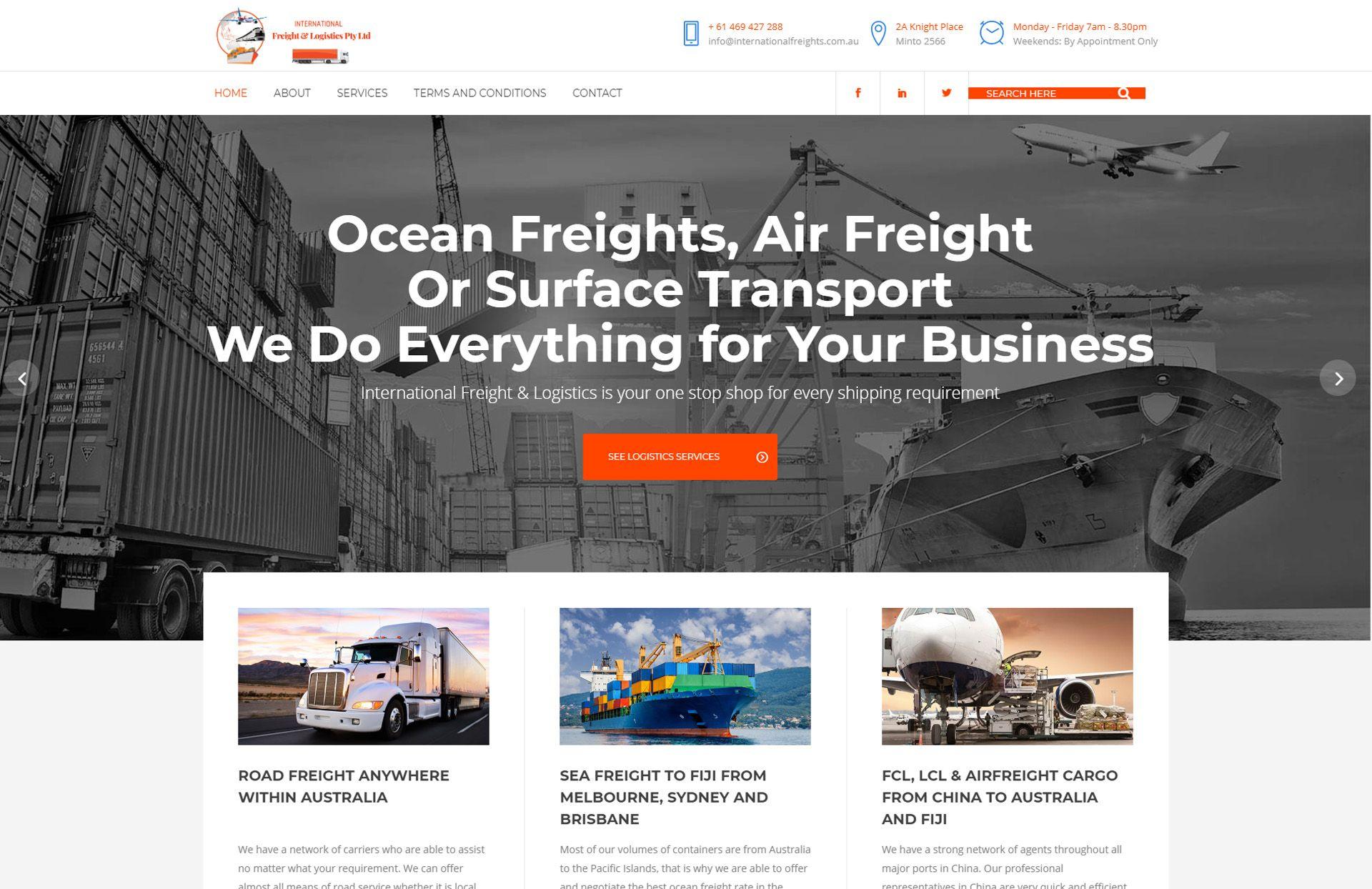 nternational Freights & Logistics image - WebGlobals