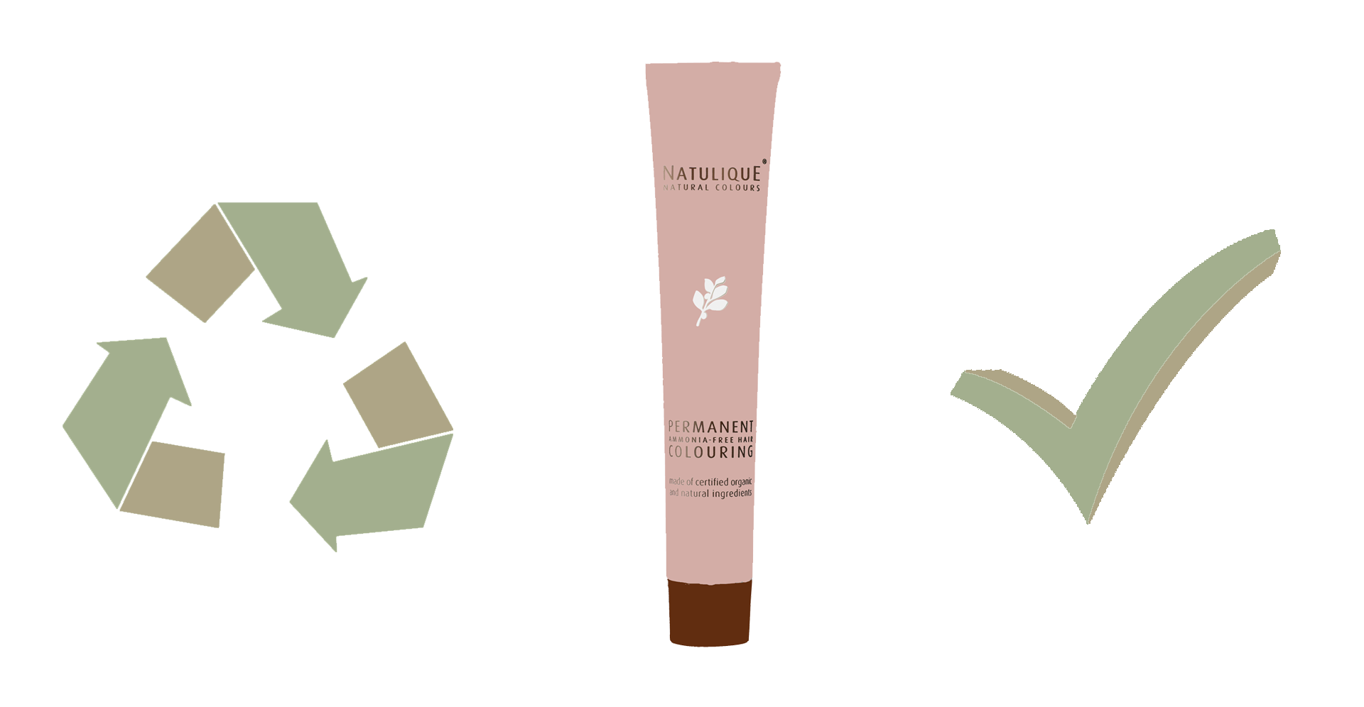 Natulique pink recyclable tube product