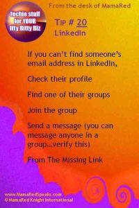 LinkedIn Tip: Finding Contact Information On LinkedIn