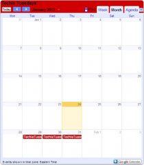 Sample of a google calendar