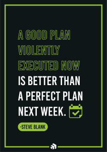 A good plan violently executed now is better than a perfect plan next week.
