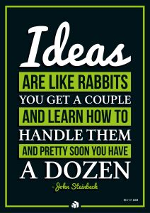 ideas are like rabbits you get a couple and learn how to handle them and pretty soon you have a dozen - Innovolo Product Development and Design - Innovation-as-a-Service
