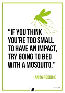 If you think youre too small to have an impact try going to bed with a mosquito