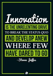 innovation is the unrelenting drive to break the status quo and develop anew where few have dared to go - Innovolo Product Development and Design - Innovation-as-a-Service
