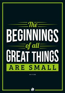 the beginnings of all great things are small - Innovolo Product Development and Design - Innovation-as-a-Service